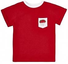 Garnamama Koszulka Dziecięca Z Kieszonką Z Arbuzem 104 Czerwona