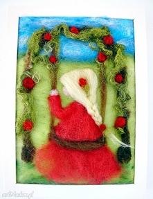 Różany ogród. Obraz z kolek...