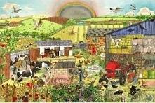 Puzzle Farma dla dzieci do zabawy 24 elementy uniw