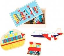 Pojazdy - puzzle w pudełku dla dzieci uniw
