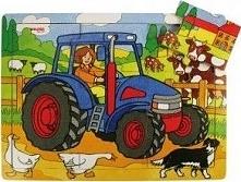 Puzzle  dla dzieci traktor , 9 elementowe  uniw