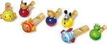 Gwizdek do zabawy dla dzieci  - zestaw 7 sztuk uniw