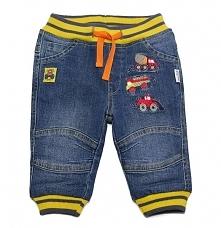 Gelati Chłopięce Spodnie Jeansowe Z Autami, 68, Niebieskie