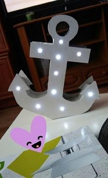 Lampka kotwica - wykonanie ...