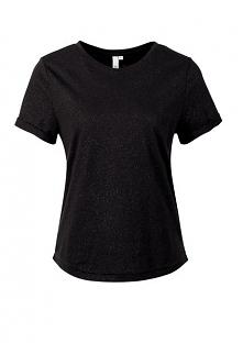 S.Oliver T-Shirt Damski Xs Czarny