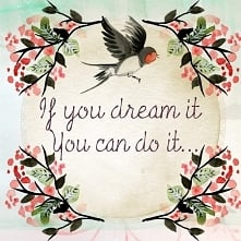 If you dream it, you can do it...