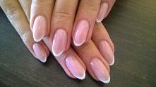 Mój cel- french manicure z semilac :D