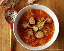 zupa z kiełbasą i kiszoną k...