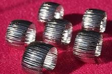 srebrne obrączki na serwetki komplet 6 sztuk