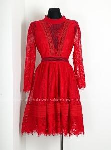 KLIKNIJ W ZDJĘCIE BY PRZEJŚĆ DO PRODUKTU. sukienkowo.com LILLY - Sukienka z francuskiej koronki czerwona