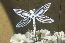 Ważka z lustrzanej blachy nierdzewnej do dekoracji florystycznych lub do utkn...