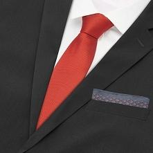 Zestaw krawat i poszetka - Czerwony