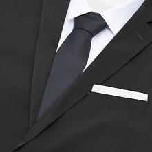 Krawat i poszetka - Czarny
