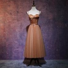 Piękne Brązowy Sukienki Na ...