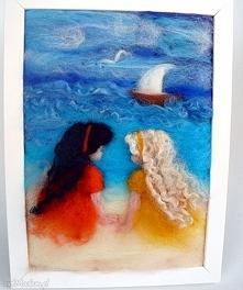 Nad brzegiem morza. Obraz z kolekcji Die wunderschöne Kindheit