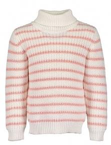 Blue Seven Sweter Dla Dziewczynki 98 Biały/Różowy