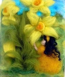 Dotyk wiosny. Obraz z kolekcji Die wunderschöne Kindheit