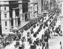Fifth Avenue in New York City on Easter Sunday in 1900