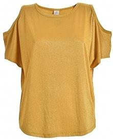 Deha Ladies T-Shirt Zimne Ramię Top-d73050 Curcuma Żółty (Rozmiar Xl)