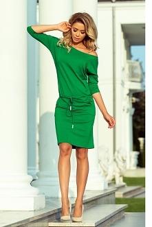 Sportowa zielona sukienka z...
