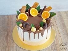 Tort czekoladowo - pomarańczowy