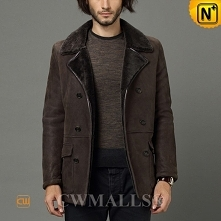Men Winter Coats | CWMALLS® Chicago Double Breasted Sheepskin Jacket CW807128 [Custom Made]