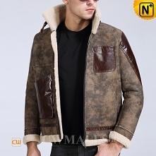 Men Leather Jackets | CWMALLS® Boston Retro Sheepskin Flying Jacket CW807653 [Custom Made]