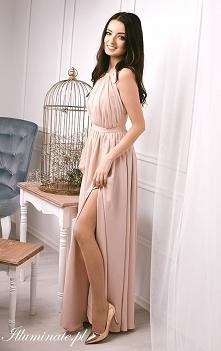 Długa sukienka dla druhny o...