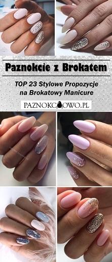 Paznokcie z Brokatem – TOP 23 Stylowe Propozycje na Brokatowy Manicure