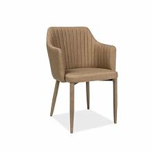 fotel w bezowym kolorze