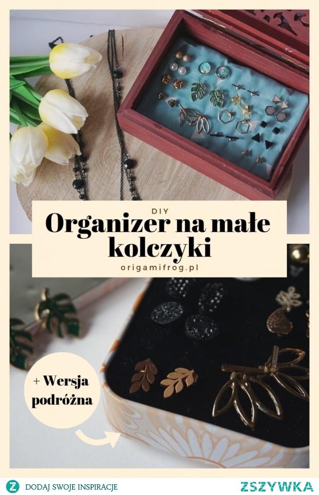 DIY Organizer na małe kolczyki • origamifrog.pl