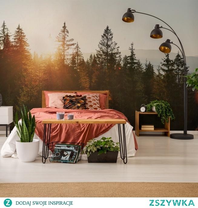 W tak urządzonej sypialni poranki zawsze będą słoneczne! (fototapeta: Myloview, nr 154342349)