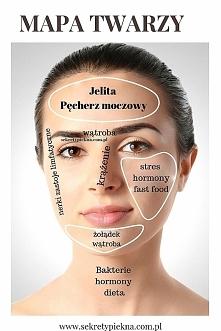 Trądzikowa mapa twarzy jak czytać? Co to jest mapa twarzy? Zapisz koniecznie!
