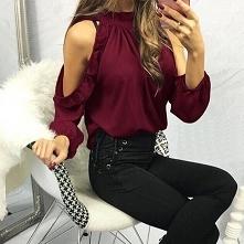 bordowa koszula
