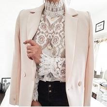 Bluzka koronkowa Zara od ewelinakrystek13 z 23 lutego - najlepsze stylizacje ...