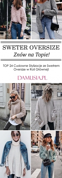 Sweter Oversize Znów na Top...