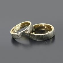 Obrączki ślubne z żółtego złota i palladu Inne Obrączki