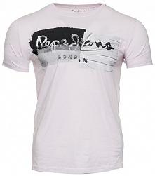 Pepe Jeans T-Shirt Męski Stepney Xl Jasnoróżowy