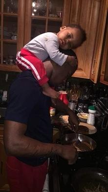 daddy, man, cook, baby, boy, black, cute,