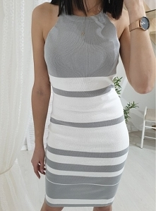 Dzianinowa sukienka MERA sz...