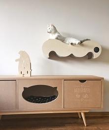 Wąsy- półka- drapak dla kota