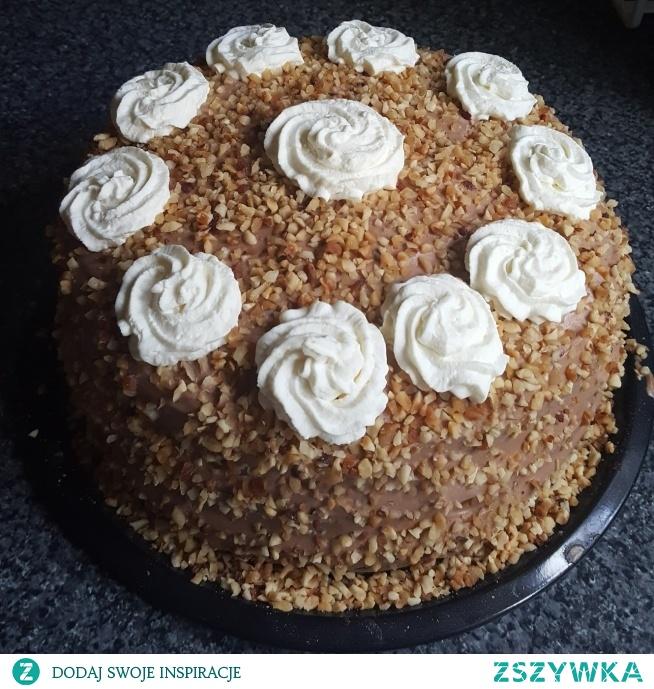 Ciasto Ferrero Rocher w moim wykonaniu, wyszlo pyszne!