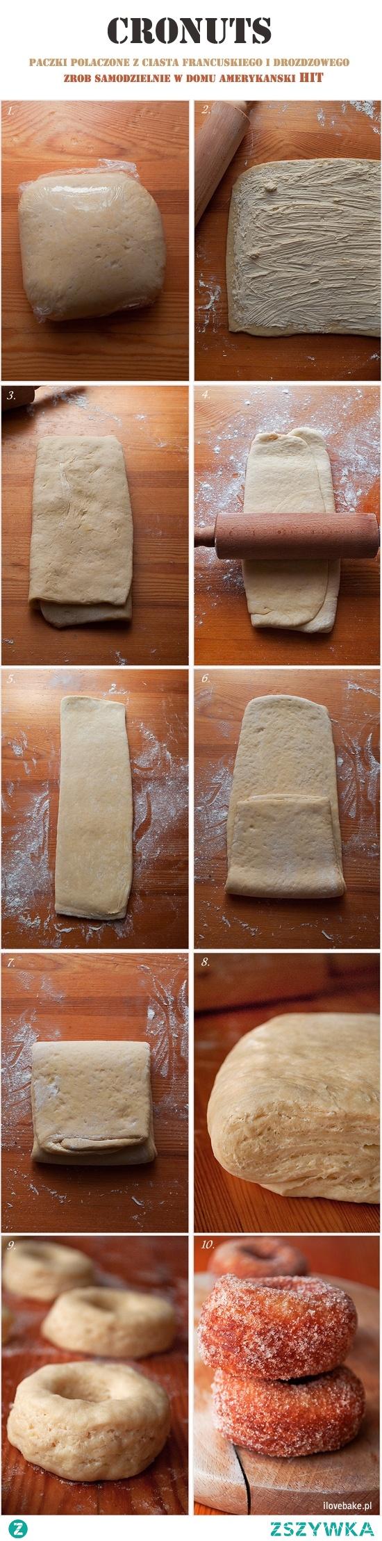 Cronuts, czyli amerykańskie pączki z ciasta drożdżowo-francuskiego. Przepis krok po kroku