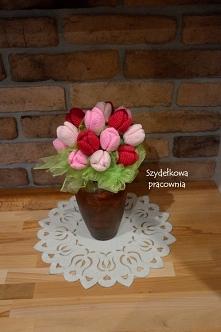 szydełkowe tulipany zaprasz...