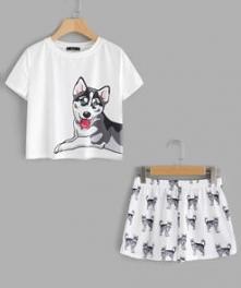 piżama husky
