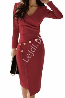 Elegancka sukienka z guzicz...