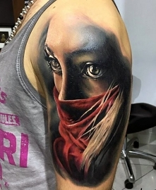 incredible face 3d tattoo
