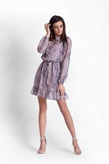 Szyfonowa sukienka w modny wężowy wzór od IVON  ivon-sklep.pl