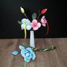 gałązki kwiatowe z rajstop