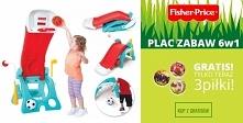 Fisher Price 6w1 plac zabaw dla dzieci zjeżdżalnia koszykówka + 3 piłki Disney Gratis!